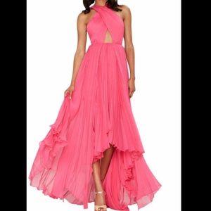 Pink Nasty Gal Flowing Maxi Dress